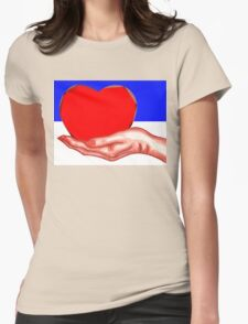 HEART IN HAND Womens Fitted T-Shirt