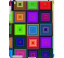 Crystal  neon bright  seamless square pattern iPad Case/Skin