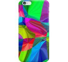 Rainbow neon seamless pattern iPhone Case/Skin