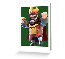 Red King Clash Royale Art Greeting Card