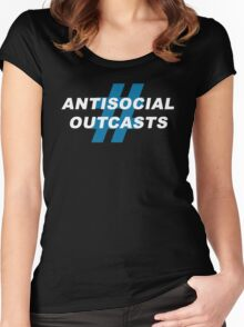 Antisocial Outcasts Women's Fitted Scoop T-Shirt