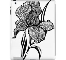 Single flower of Iris graphic illustartion iPad Case/Skin