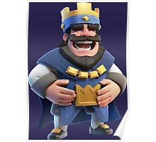 Blue King Clash Royale Art Poster