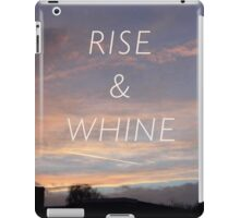 Rise & Whine - Sunset iPad Case/Skin
