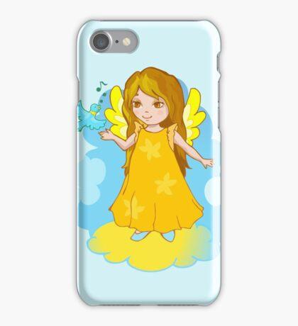 Cute Angel cartoon vector iPhone Case/Skin