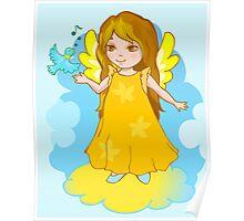 Cute Angel cartoon vector Poster