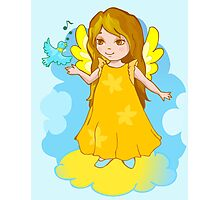 Cute Angel cartoon vector Photographic Print