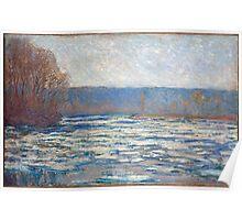 1893-Claude Monet-Ice breaking up on the Seine near Bennecourt-65 x 100 Poster