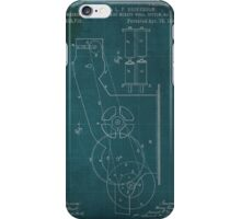 Machine for opening and mixing wool, green poster iPhone Case/Skin