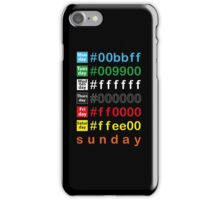 Colors week iPhone Case/Skin