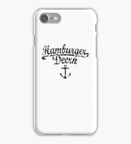 Hamburger Deern Anker Vintage Schwarz iPhone Case/Skin