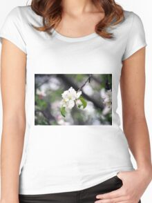 Spring Flower Series 42 Women's Fitted Scoop T-Shirt