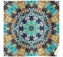 Concentric Abstract Mandala Poster