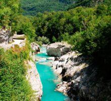 Soca River Near Kobarid Sticker