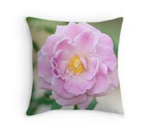 Pink rose flower Throw Pillow