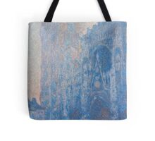 1894-Claude Monet-Rouen Cathedral Façade and Tour d'Albane (Morning Effect)-74 x 106 Tote Bag