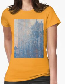 1894-Claude Monet-Rouen Cathedral Façade and Tour d'Albane (Morning Effect)-74 x 106 Womens Fitted T-Shirt