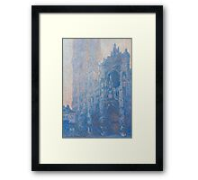 1894-Claude Monet-Rouen Cathedral Façade and Tour d'Albane (Morning Effect)-74 x 106 Framed Print