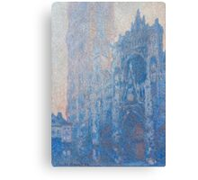 1894-Claude Monet-Rouen Cathedral Façade and Tour d'Albane (Morning Effect)-74 x 106 Canvas Print