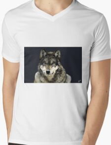 Wolf- Low Poly Vector Mens V-Neck T-Shirt