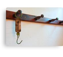 Antique Meat Scale Hook Canvas Print