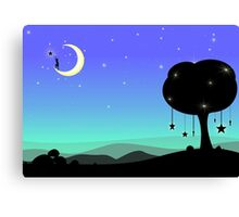 Moon illustration Canvas Print