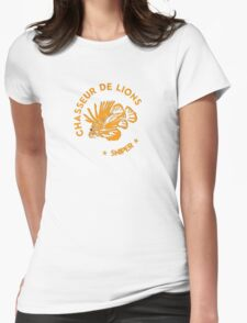 Chasseur de lions SNIPER Orange Womens Fitted T-Shirt