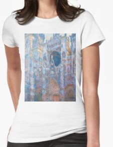 1894-Claude Monet-Rouen Cathedral, West Façade-65 x 100 Womens Fitted T-Shirt