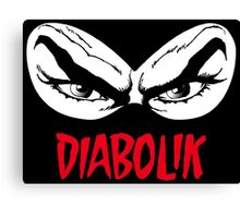 Diabolik eyes comic hero, with name Canvas Print