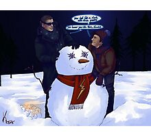 Do u wanna build a snowman Photographic Print