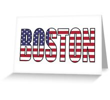 Boston. Greeting Card