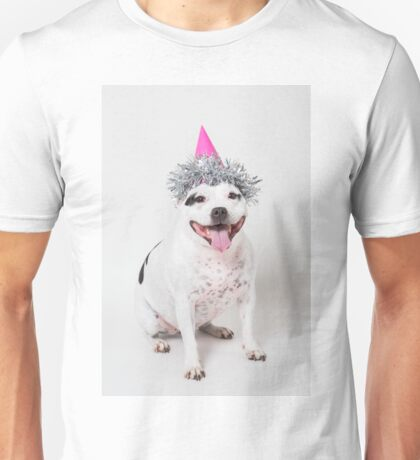 Cassie in party hat! Unisex T-Shirt