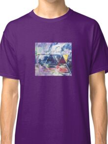 Gold Triangle - Original Wall Modern Abstract Art Painting Classic T-Shirt