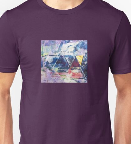 Gold Triangle - Original Wall Modern Abstract Art Painting Unisex T-Shirt