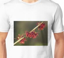 Red Witch Hazel Flowers Unisex T-Shirt