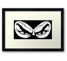 Diabolik eyes, comic hero Framed Print