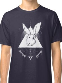 Lunar Hare Ink Illustration | Dark Version Classic T-Shirt