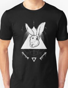 Lunar Hare Ink Illustration | Dark Version Unisex T-Shirt