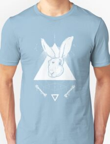 Lunar Hare Ink Illustration | Dark Version Unisex T-Shirt