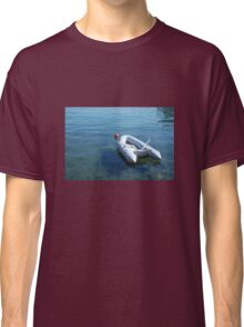 Boat in Bakar Harbour Classic T-Shirt