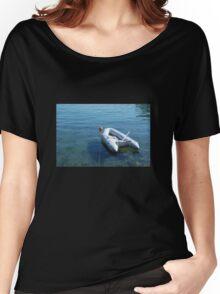 Boat in Bakar Harbour Women's Relaxed Fit T-Shirt