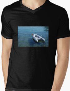 Boat in Bakar Harbour Mens V-Neck T-Shirt