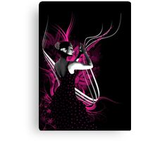 spanish flamenco dancer with purple color Canvas Print