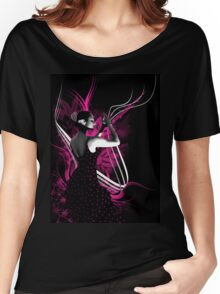 spanish flamenco dancer with purple color Women's Relaxed Fit T-Shirt