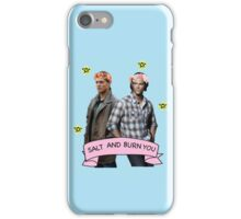 Supernatural Winchester Brothers 'Salt and Burn You' iPhone Case/Skin