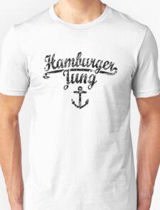 Hamburger Jung Anker Vintage Schwarz T-Shirt
