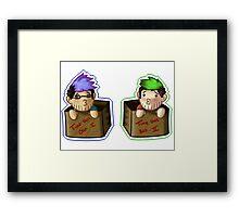 Septiplier-in-a-box Fan Items 2! Framed Print