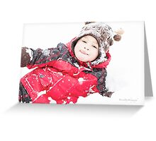 Winter Playtime Greeting Card