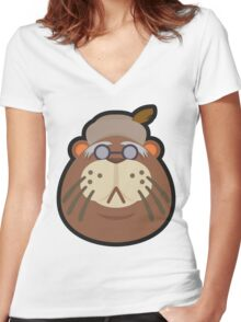 PHINEAS ANIMAL CROSSING Women's Fitted V-Neck T-Shirt
