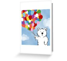 Teddy Bear with Balloons Greeting Card